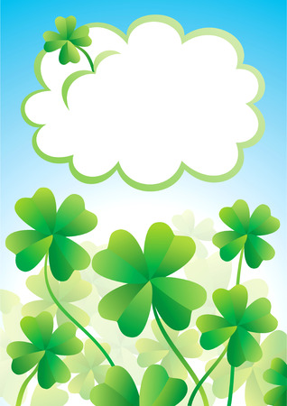 Clover with four leaves on a summer day Vector