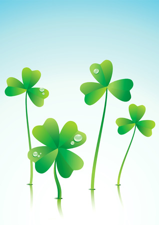 patrik day: Vector illustration of a successful Four Leaf Clover
