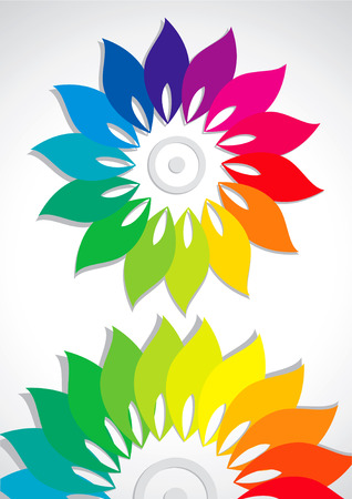 Vector abstract flower colors of the rainbow Stock Vector - 8982951