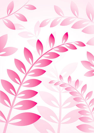 Vector background with plants with pink foliage Vector