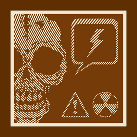Warning sign with a skull about the dangers Stock Vector - 9136205