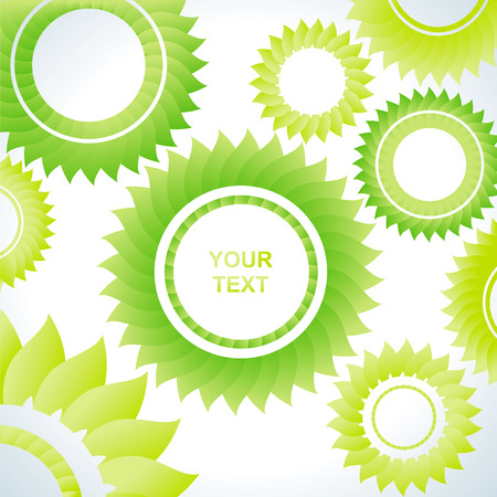 Bright abstract background of several green of gears Vector
