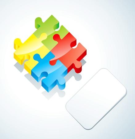 cuatro elementos: Rompecabezas de los cuatro elementos y papel