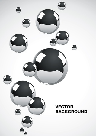 Fondo abstracta de un conjunto de bolas de metal Foto de archivo - 9333773