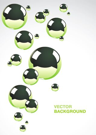 Abstract background of a set of metal balls Stock Vector - 9333774