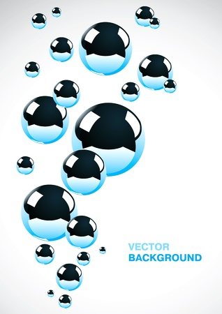 Abstract background of a set of metal balls Stock Vector - 9355493