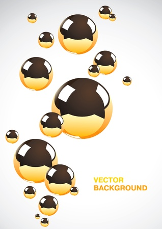 Abstract background of a set of metal balls Vector