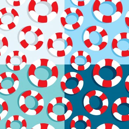 boyas: Patr�n transparente de boyas de vida en cuatro colores
