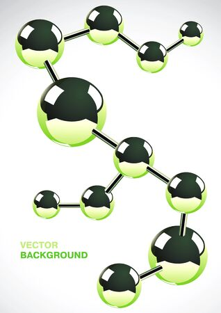 Abstract background of several interconnected metal atoms Stock Vector - 9413073