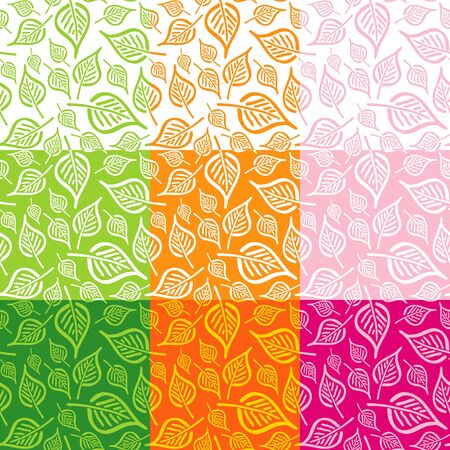 Seamless pattern from leaves of different colors Stock Vector - 9499514