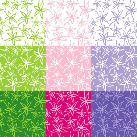 Seamless pattern from leaves of different colors Vector