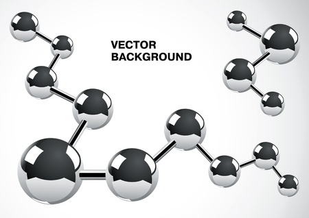 interconnected: Abstract background of several interconnected metal atoms