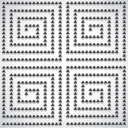 Patrón abstracta de un conjunto de bolas de metal Foto de archivo - 9499523
