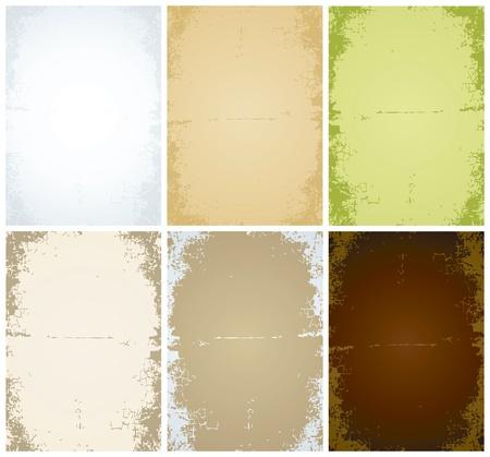cartone strappato: Set di vettore di vecchi fogli di carta