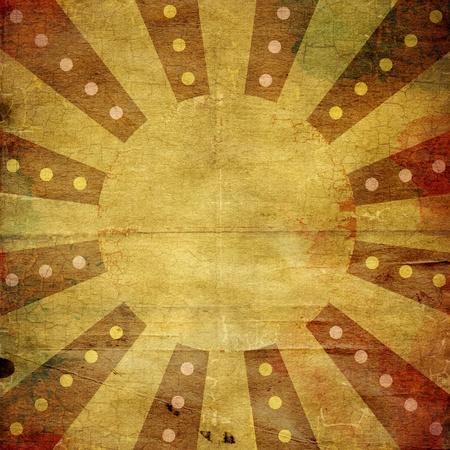 cirque: Grunge a strisce di carta con texture di sfondo in stile retr�
