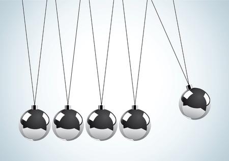 Illustration of a pendulum with metal balls