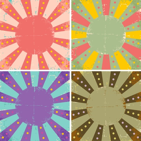 Set of four bright vintage circus posters Stock Vector - 9815706