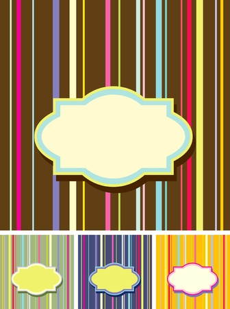 Set of four retro colorful backgrounds Vector