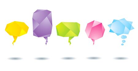 Set of abstract colorful origami bubbles Vector