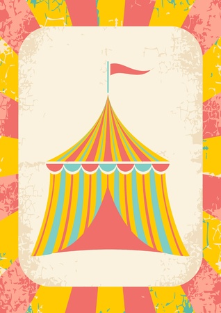 Illustration of a circus tent on a bright background Illustration
