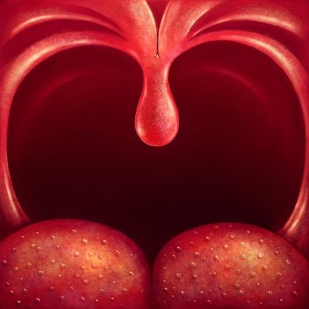 berros: Úvula ilustración en la garganta de cerca