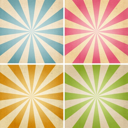 Four sheets of paper of different colors Stock Photo - 10436054