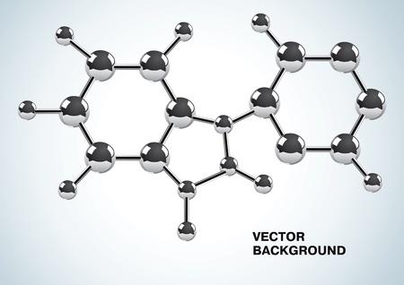 Ilustración de la fórmula química que consiste de moléculas