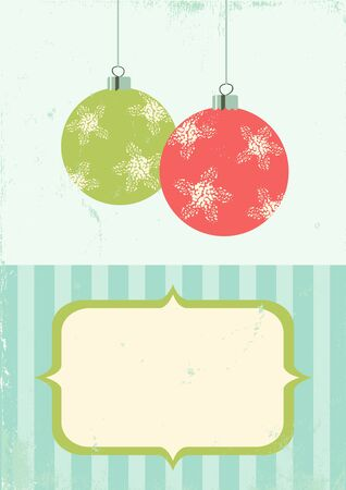 Illustration of Christmas balls in vintage style Stock Vector - 11083490