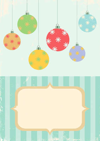 Illustration of Christmas balls in vintage style Stock Vector - 11083486