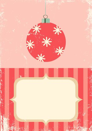 Illustration of Christmas ball in vintage style Vector