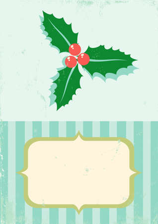 Illustration of Christmas plant in vintage style Stock Vector - 11083484