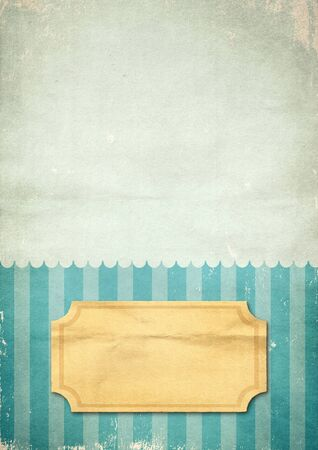Striped retro print blue on the old paper Stock Photo - 11083492