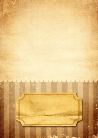 Striped retro print of brown on old paper Stock Photo - 11083493