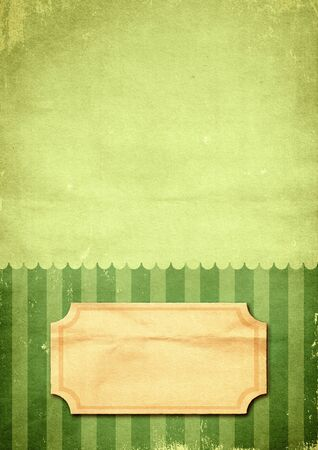 Striped retro green print on paper Stock Photo - 11242511