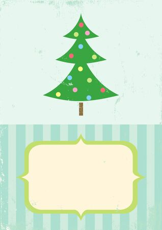 Illustration Christmas tree in retro style Stock Vector - 11242518