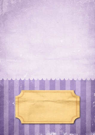 Striped retro violet print on paper Stock Photo - 11397017