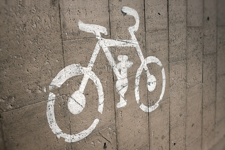 Images of the bike on cycle paths photo