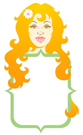 Illustration of girl with long hair Stock Vector - 11397007