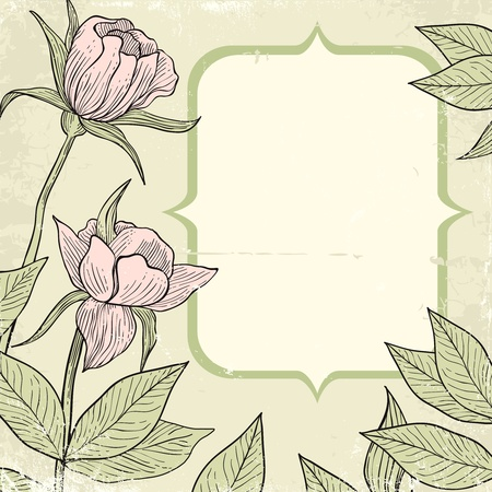 Illustration of flowers in vintage style Stock Vector - 11397022