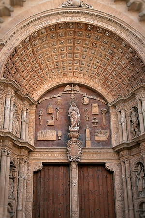 arch of the entrance to the ancient Catholic Cathedral Stock Photo - 12918722