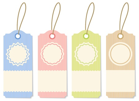 Illustration striped labels of different colors Stock Vector - 12918717
