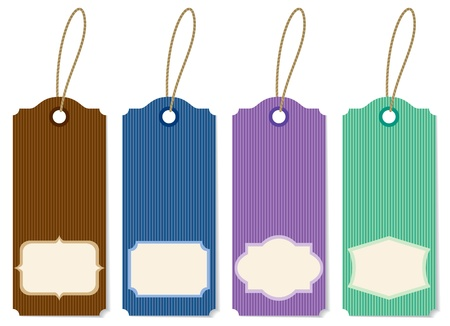 Illustration striped labels of different colors Stock Vector - 12918716