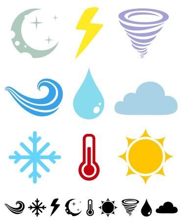 term�metro: Un conjunto de iconos de colores Tiempo