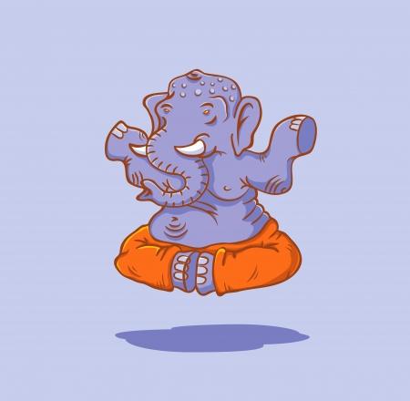 indian yoga: L'elefante nella posizione del loto
