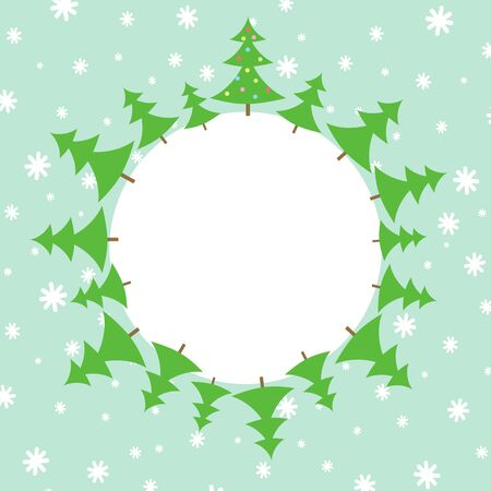 Illustration of Christmas trees in the snow Stock Vector - 15775400