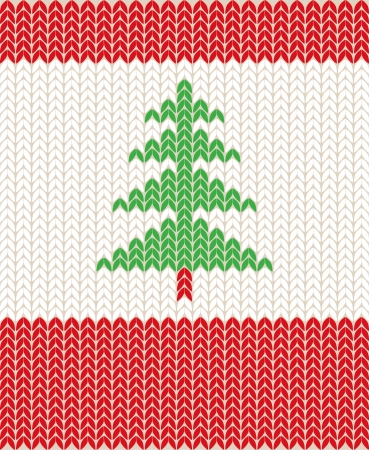 Illustration of Christmas knitting pattern Vector