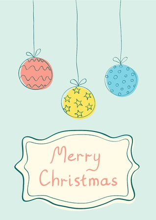 Illustration of Christmas balls in vintage style Stock Vector - 16273704
