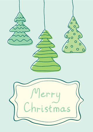 Illustration of Christmas tree in vintage style Vector