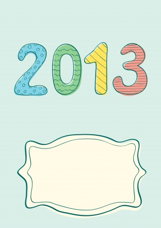 Illustration of New year 2013 in vintage style Stock Vector - 16273700