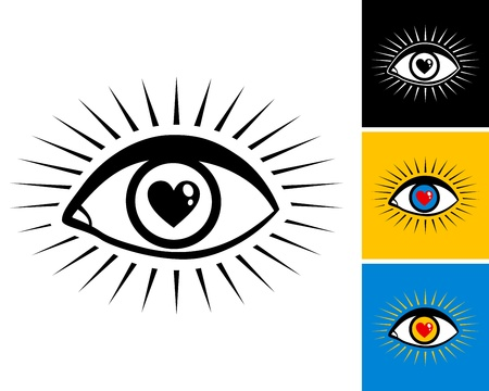 eye with the pupil in the form of heart Stock Vector - 18311797